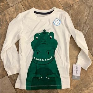 NWT Carter's 3t alligator shirt